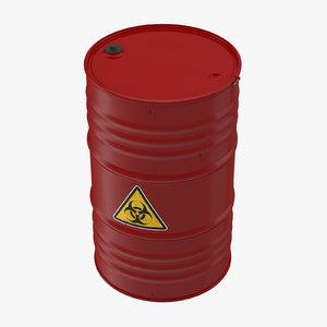 3d model biohazard barrel