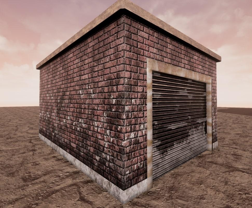 ready garage extension 3d obj