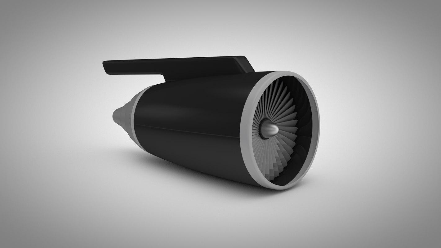 basic jet engine 3d c4d