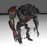 3d model of werewolf mech