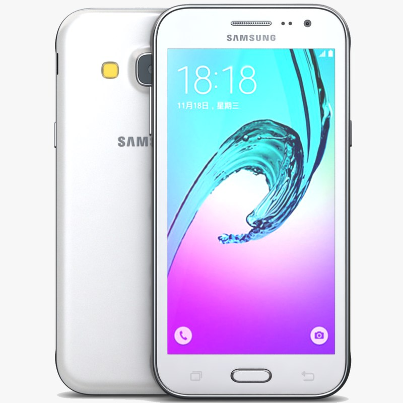 3d model samsung galaxy j3 white