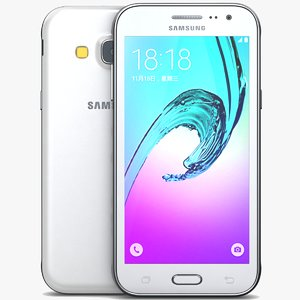 3d model samsung galaxy j3 white