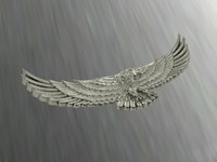 3d eagle pendant