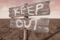 Keep Out Sign (Wooden)