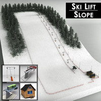 Ski slope lift mountain pack
