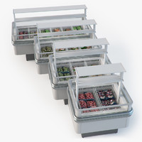 Store fridge island set
