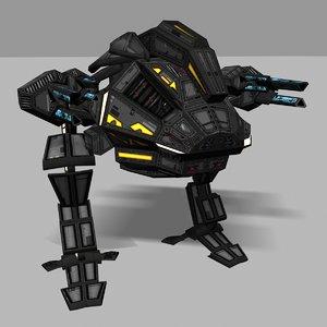 3d model assault mech