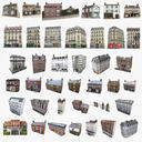 39 European Buildings Set
