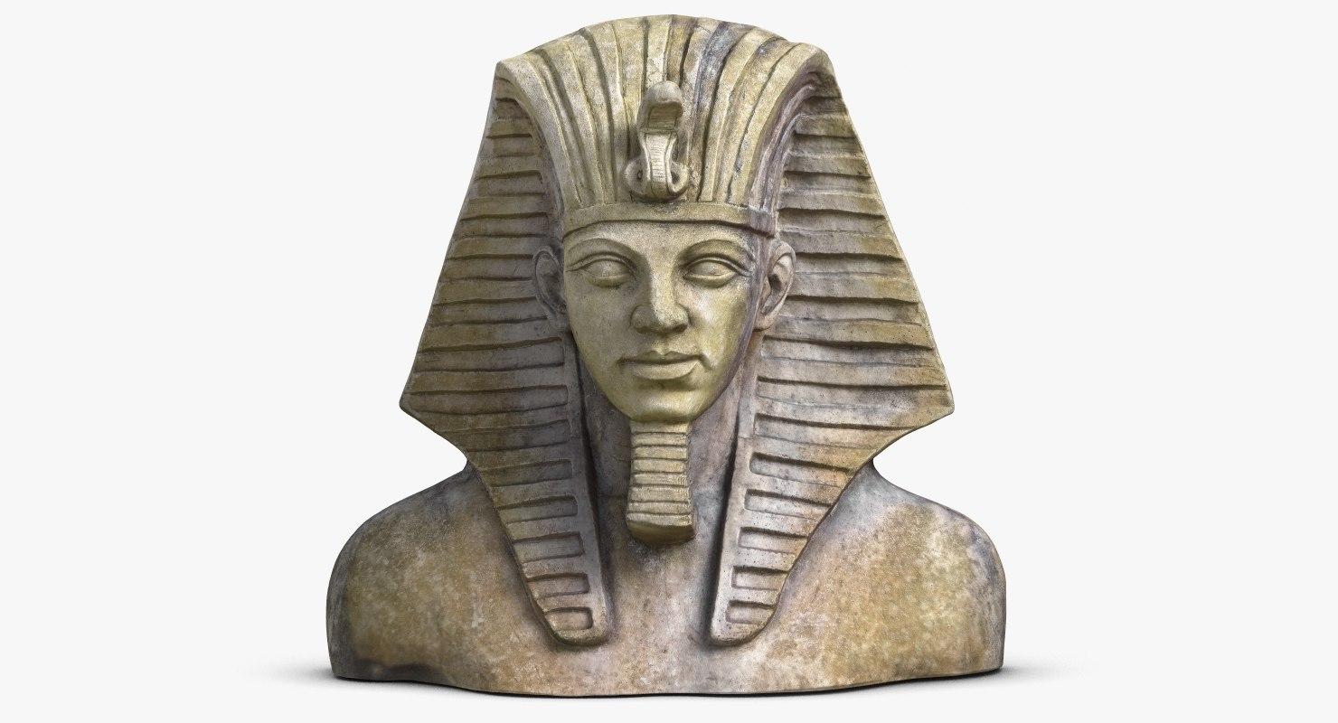 egypt tutankhamun mask 3d 3ds