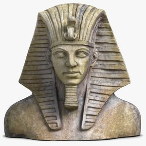 egypt tutankhamun mask 3d 3ds