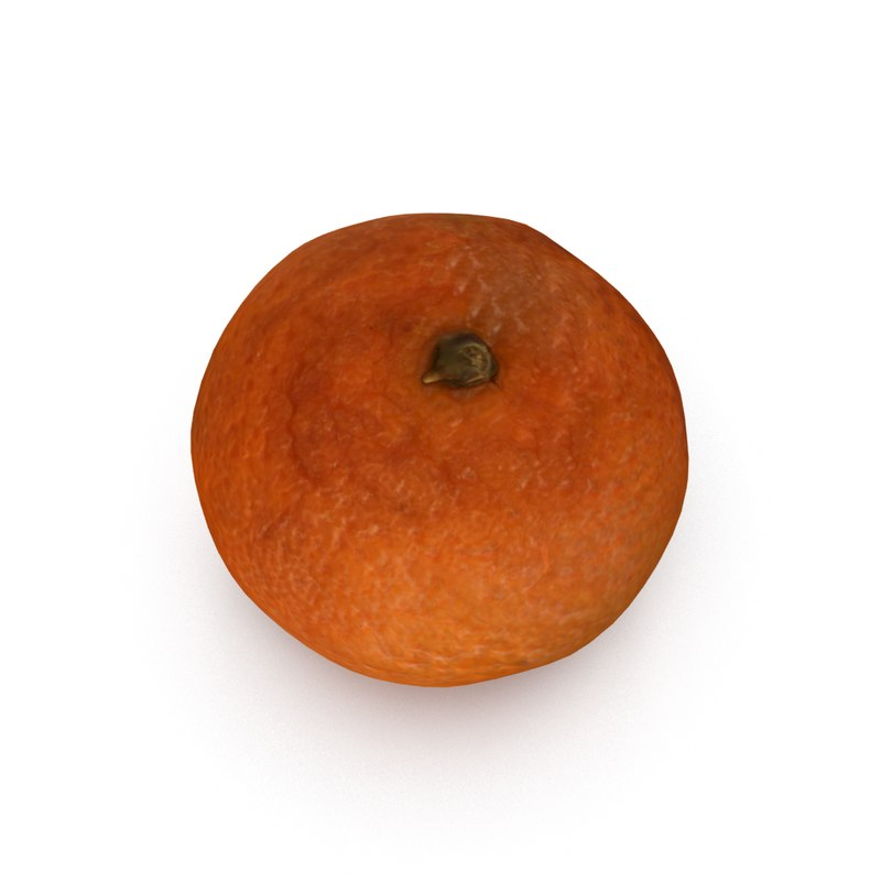 3d model of mandarin satsuma fruit