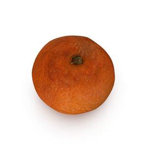 3d model of mandarin satsuma fruit