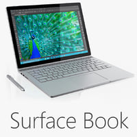 3d microsoft surface book