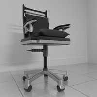 3d leather rotating office chair