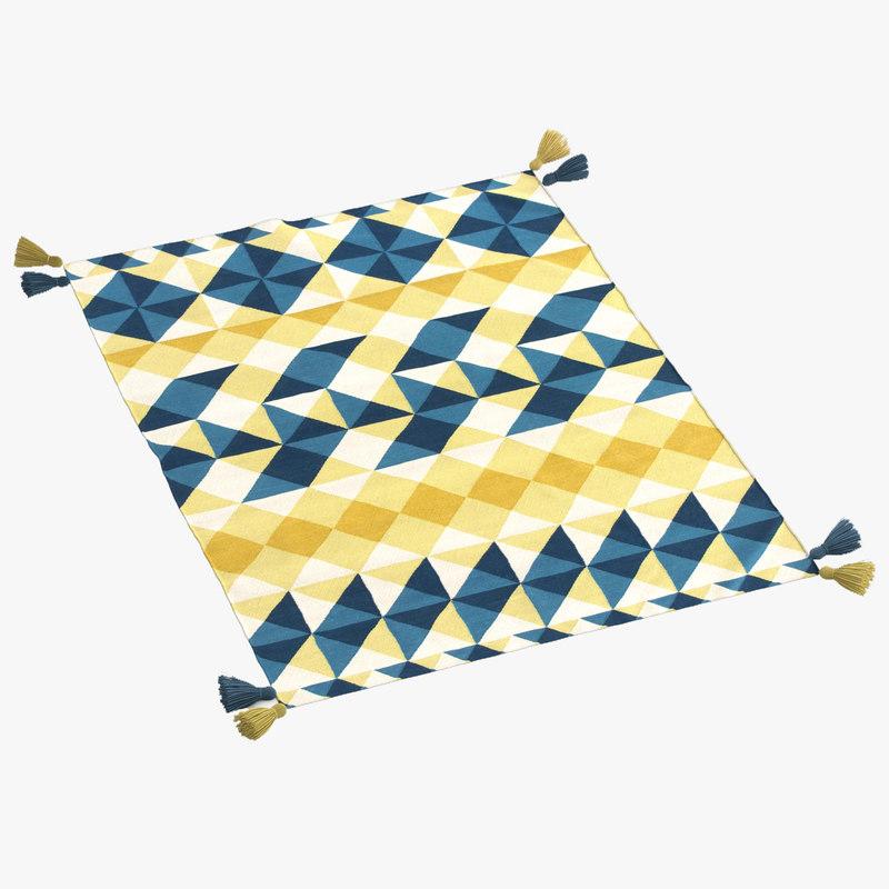 gan kilim mosaiek rug 3d model