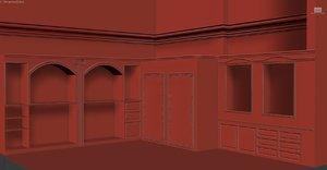 interior classic shop 3d model