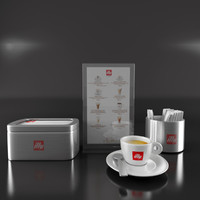 3d max illy cafe coffee