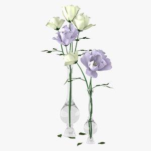 3d bouquet eustoma