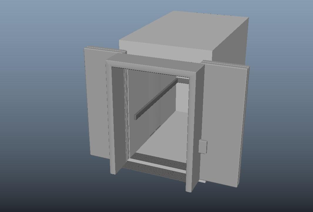 3d model elevator doors