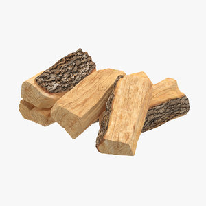firewood small stack 03 3d model