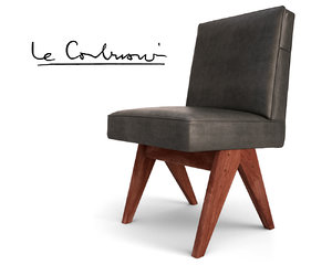 3d max pierre jeanneret chair le corbusier