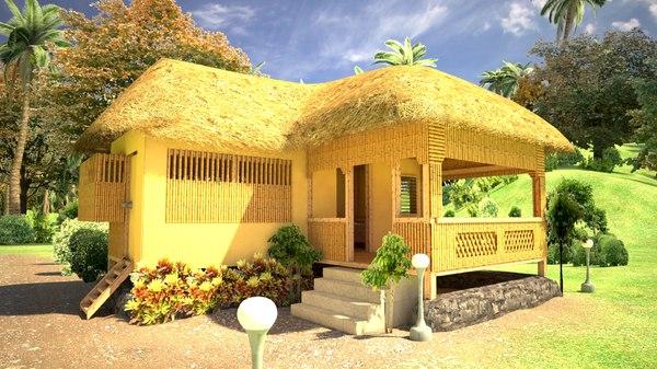 3d model tropical house
