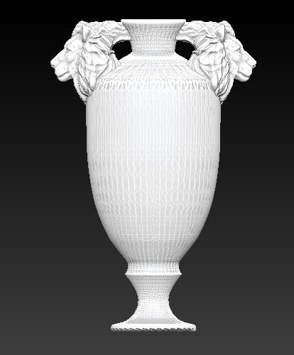 3d model trophy urn