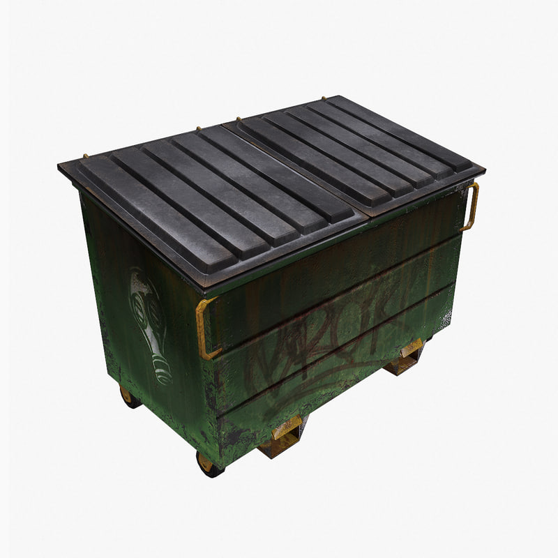 3d model garbage dumpster