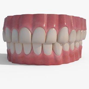 realistic human teeth obj