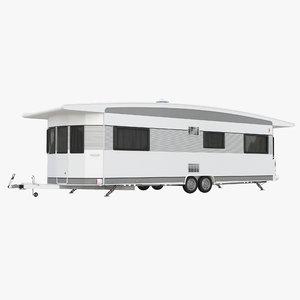 hobby caravan landhaus 3d obj