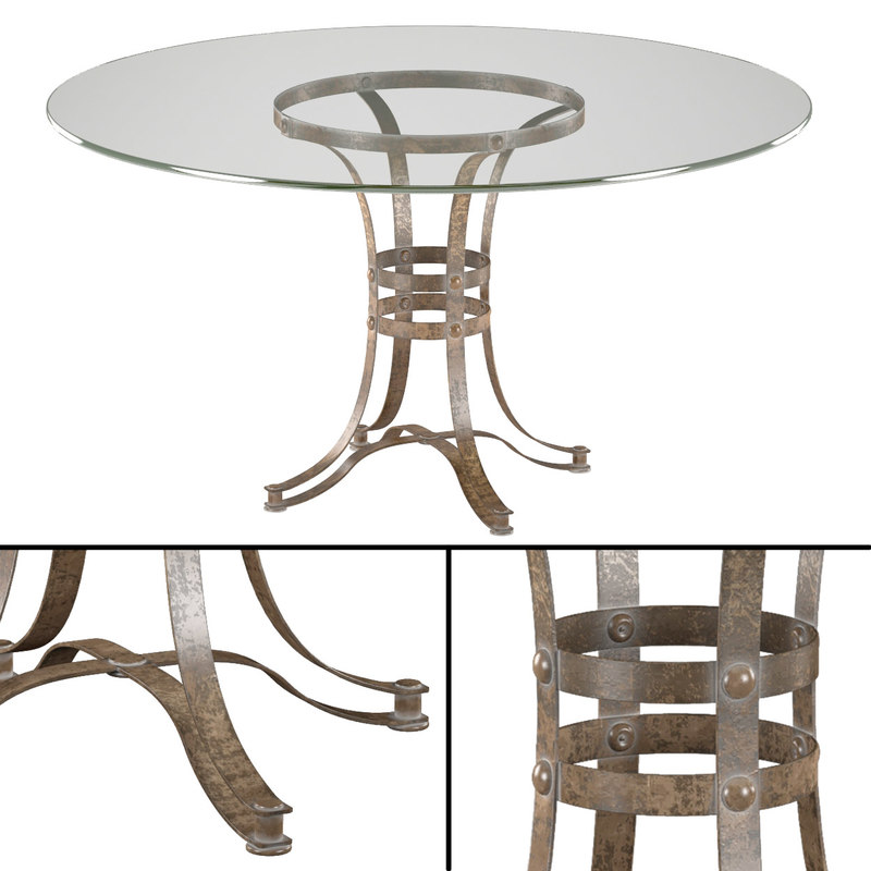 3d model tempe metal dining table