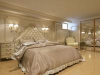 3d classic guest bedroom interior