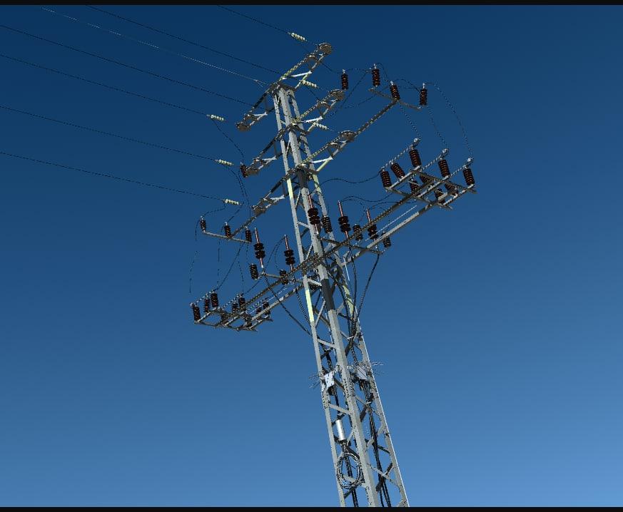 power transmission tower 3d model