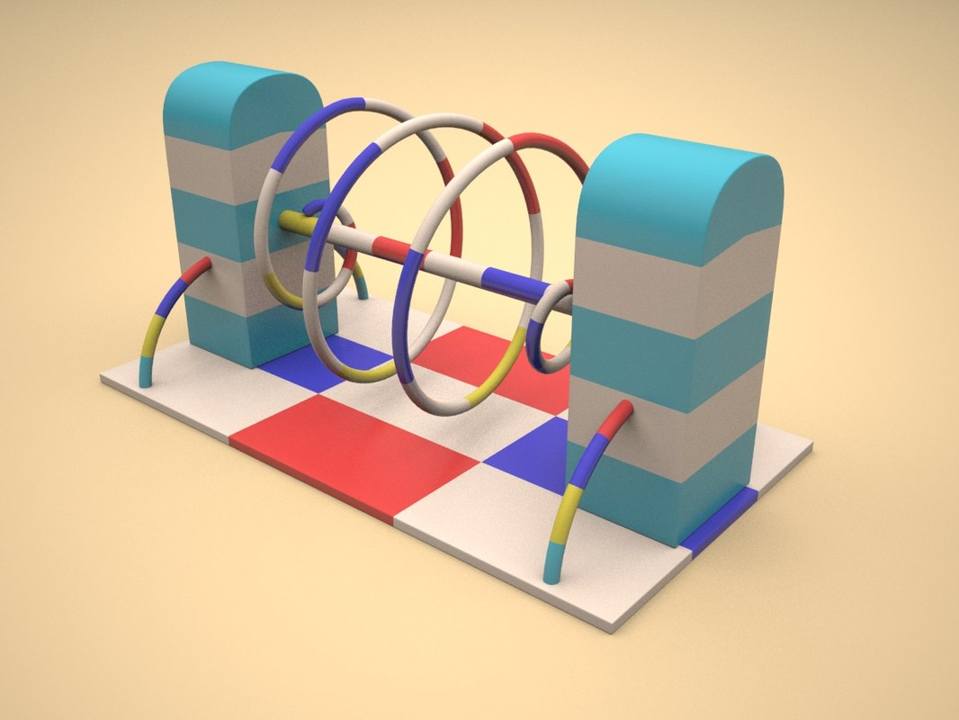 soft children playground helix 3d max