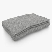 blanket fold gray max