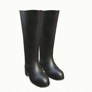 rubber boots 3d max