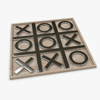 3d office toy tic-tac-toe model