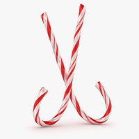 3d model candy cane