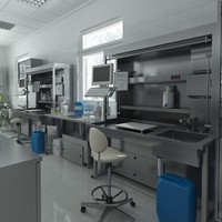 3d model anatomy pathology laboratory equipment