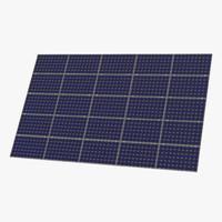 3d model solar panel 3