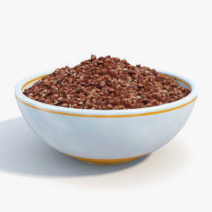 bowl buckwheat 3d max