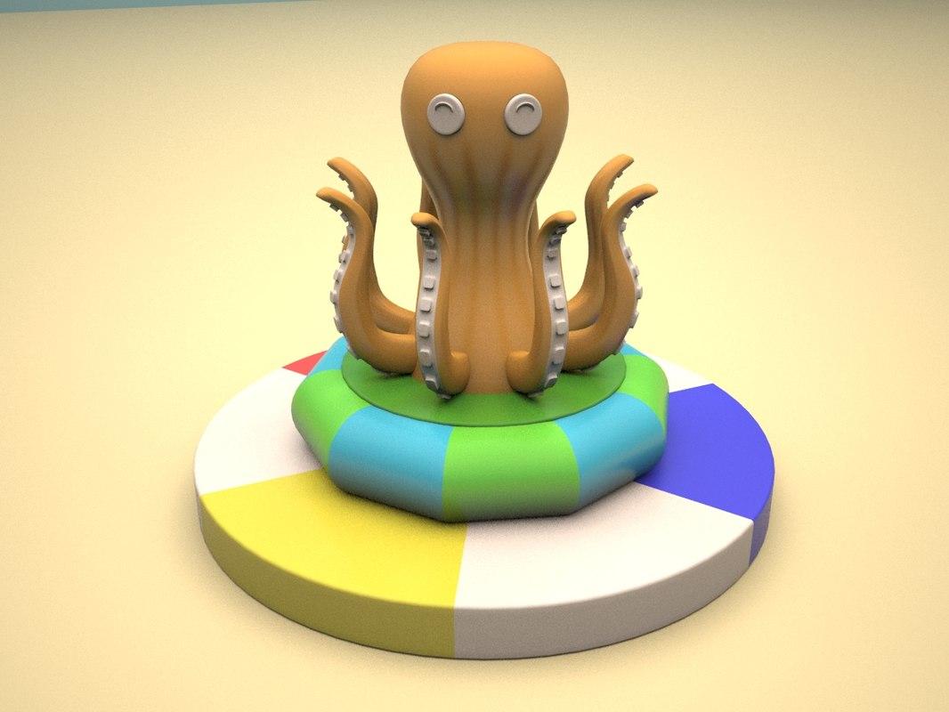 soft children playground octopus 3d max