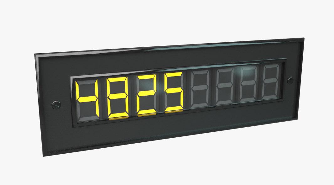 digital counter 3d model