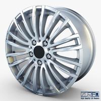 3d style 345m wheel silver model