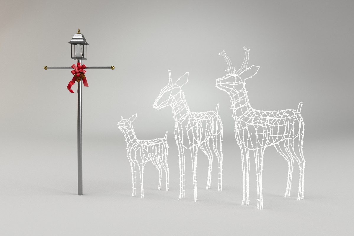 christmas deer 3d obj