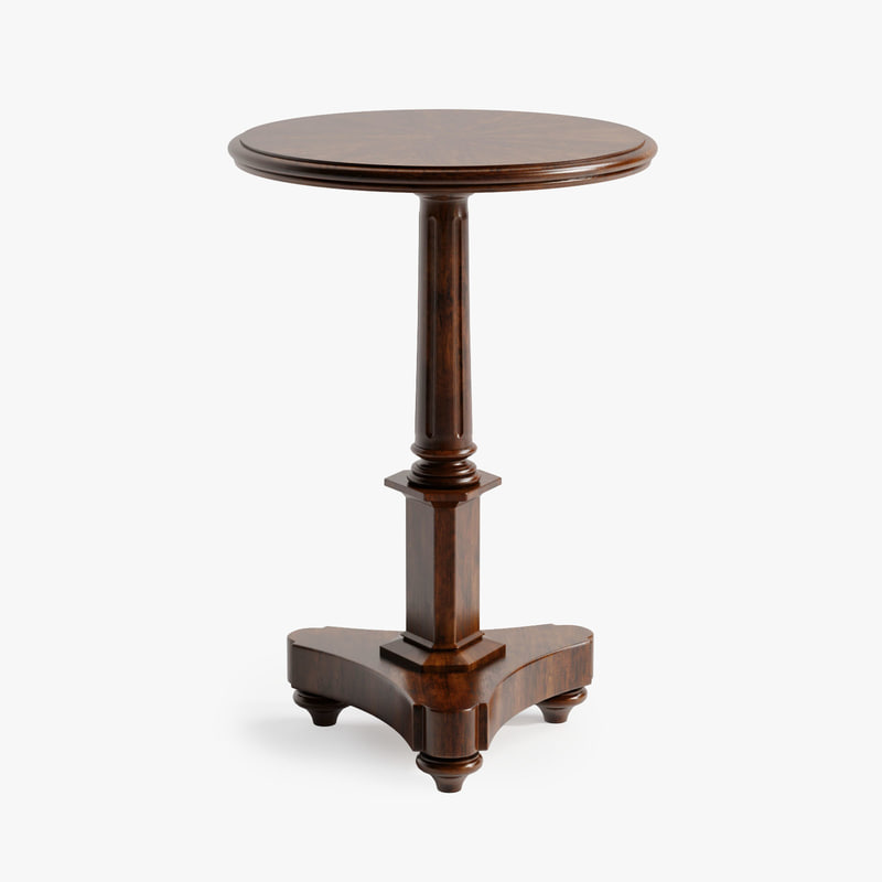 century hampton accent table 3d model