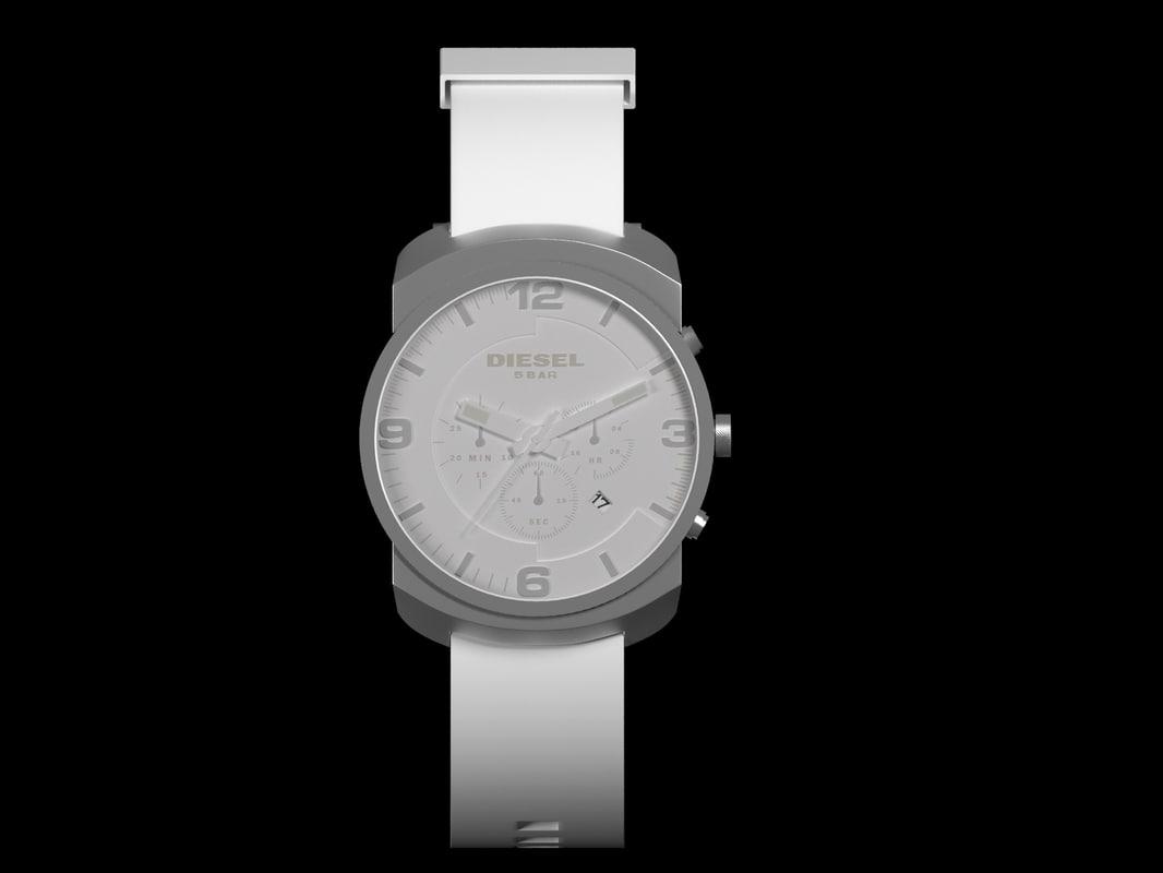 diesel man s watch 3d model