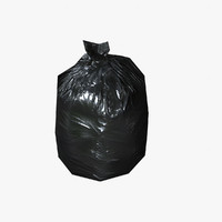 3d ready garbage bags model