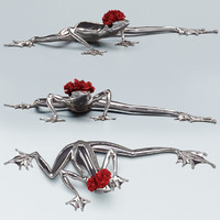 3d kare frog model