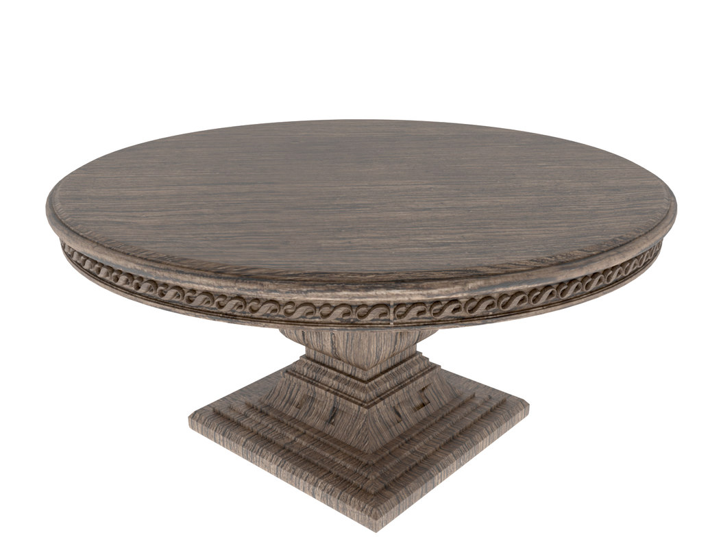 vintage table 3d max